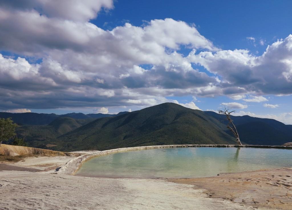 Hierve el agua Oaxaca pool tree Double-Barrelled Travel