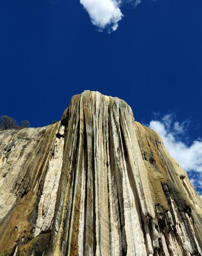 Hierve el agua below waterfall Double-Barrelled Travel