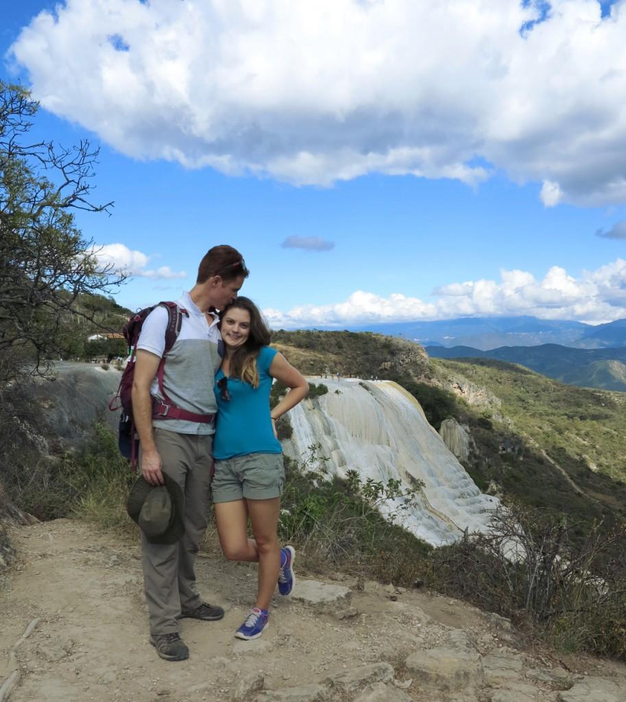 Hierve el agua big waterfall Double-Barrelled Travel