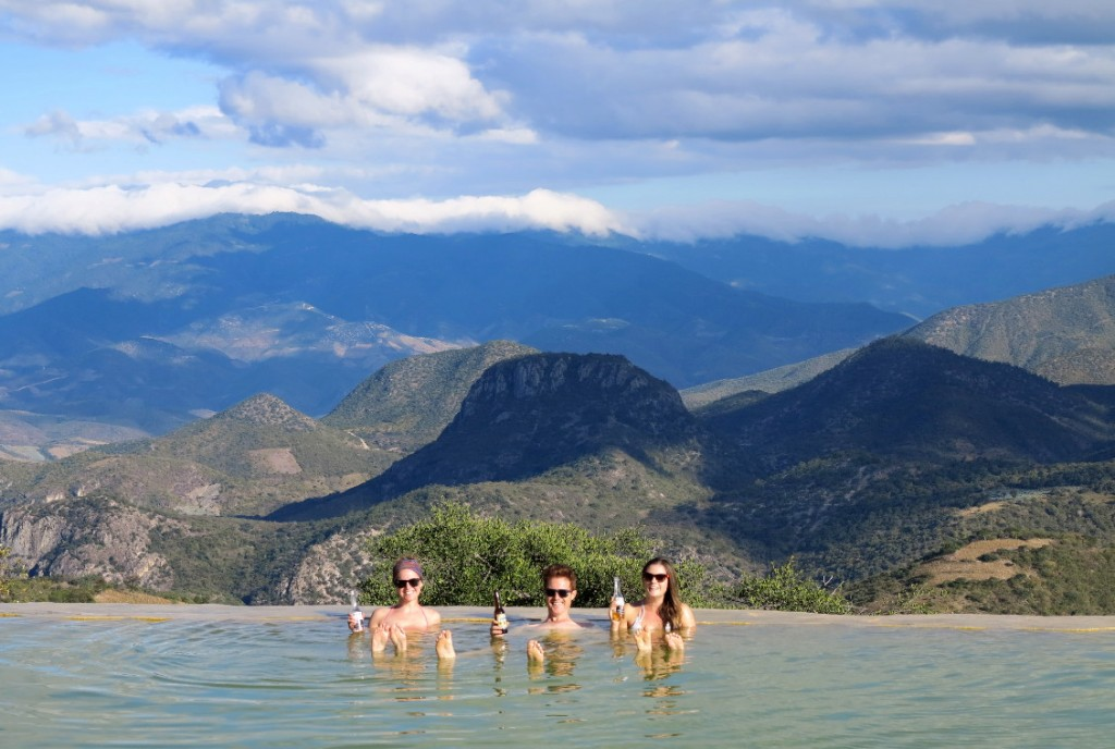 Hierve el agua pool Double-Barrelled Travel