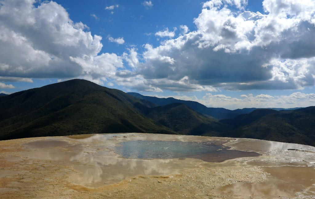 Hierve el agua reflections Double-Barrelled Travel