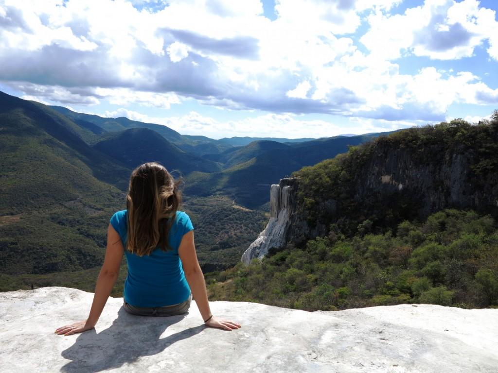 Hierve el agua waterfall Double-Barrelled Travel