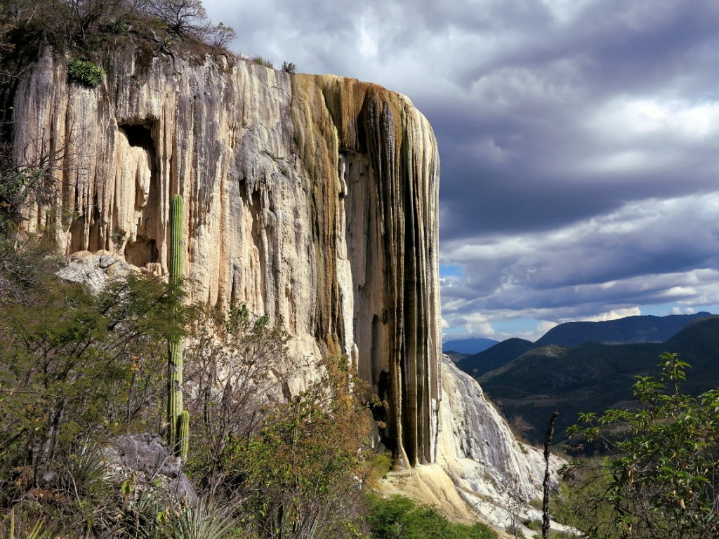 Hierve el agua waterfall oaxaca side Double-Barrelled Travel