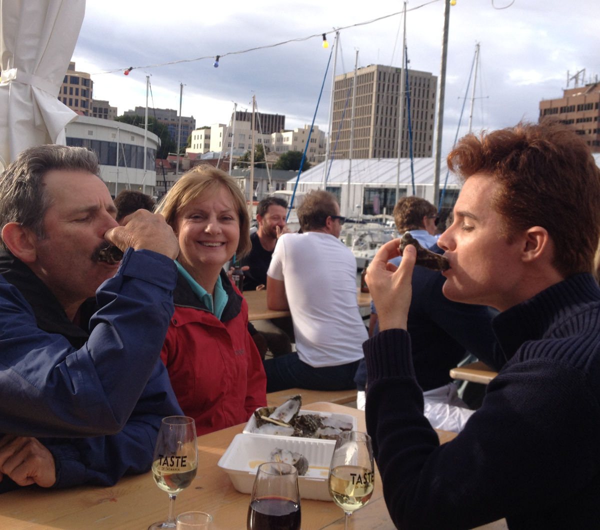 Tasmanian oysters Double-Barrelled Travel