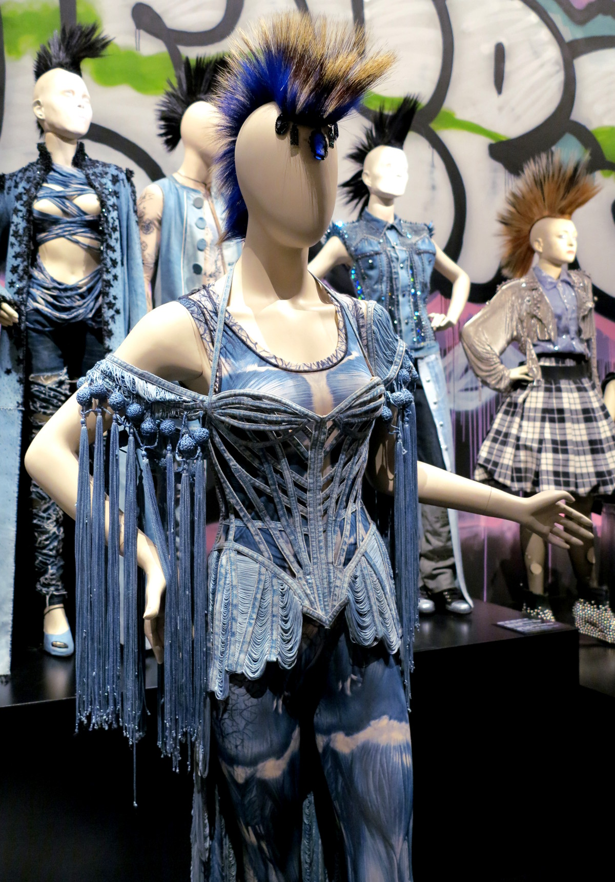 Denium punk Jean Paul Gaultier National Gallery of Victoria