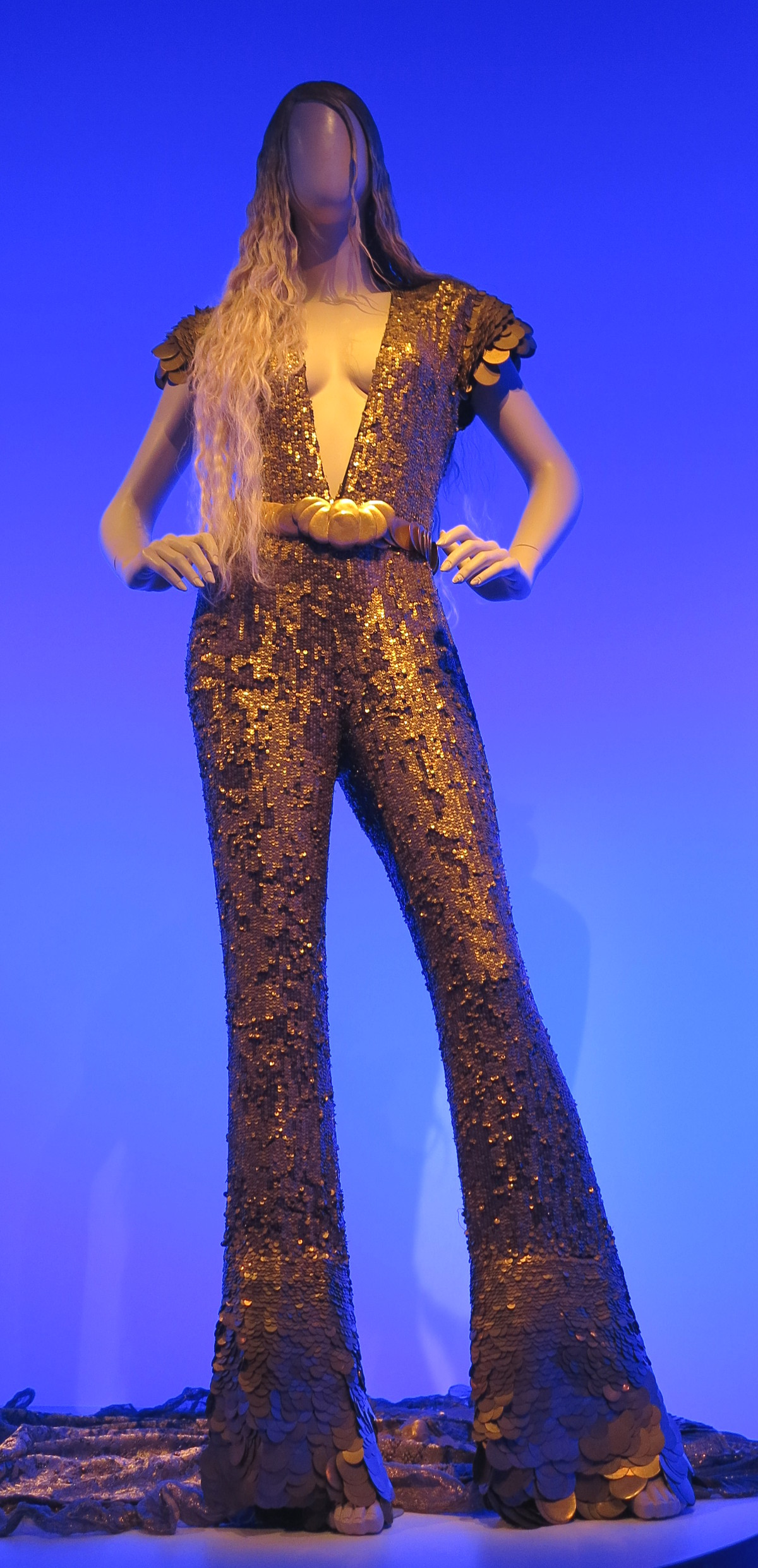 Gold outfit Jean Paul Gaultier National Gallery of Victoria