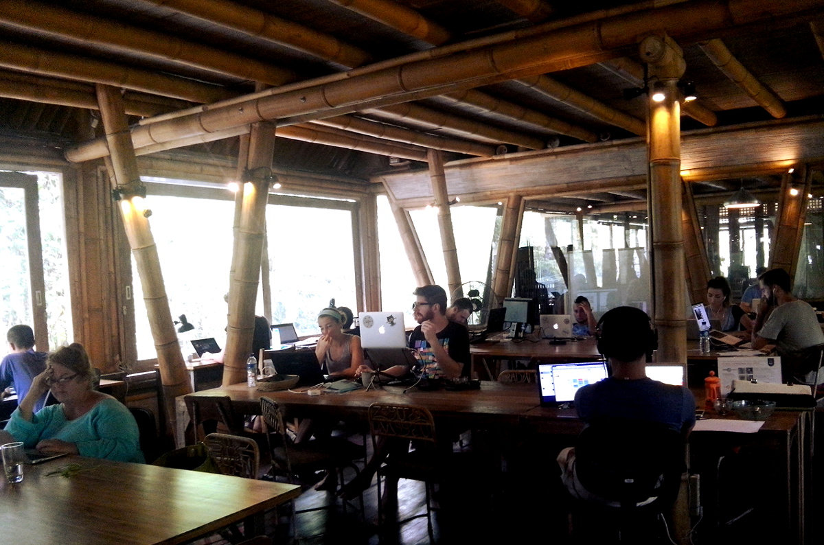 Hubud deskspace Double-Barrelled Travel