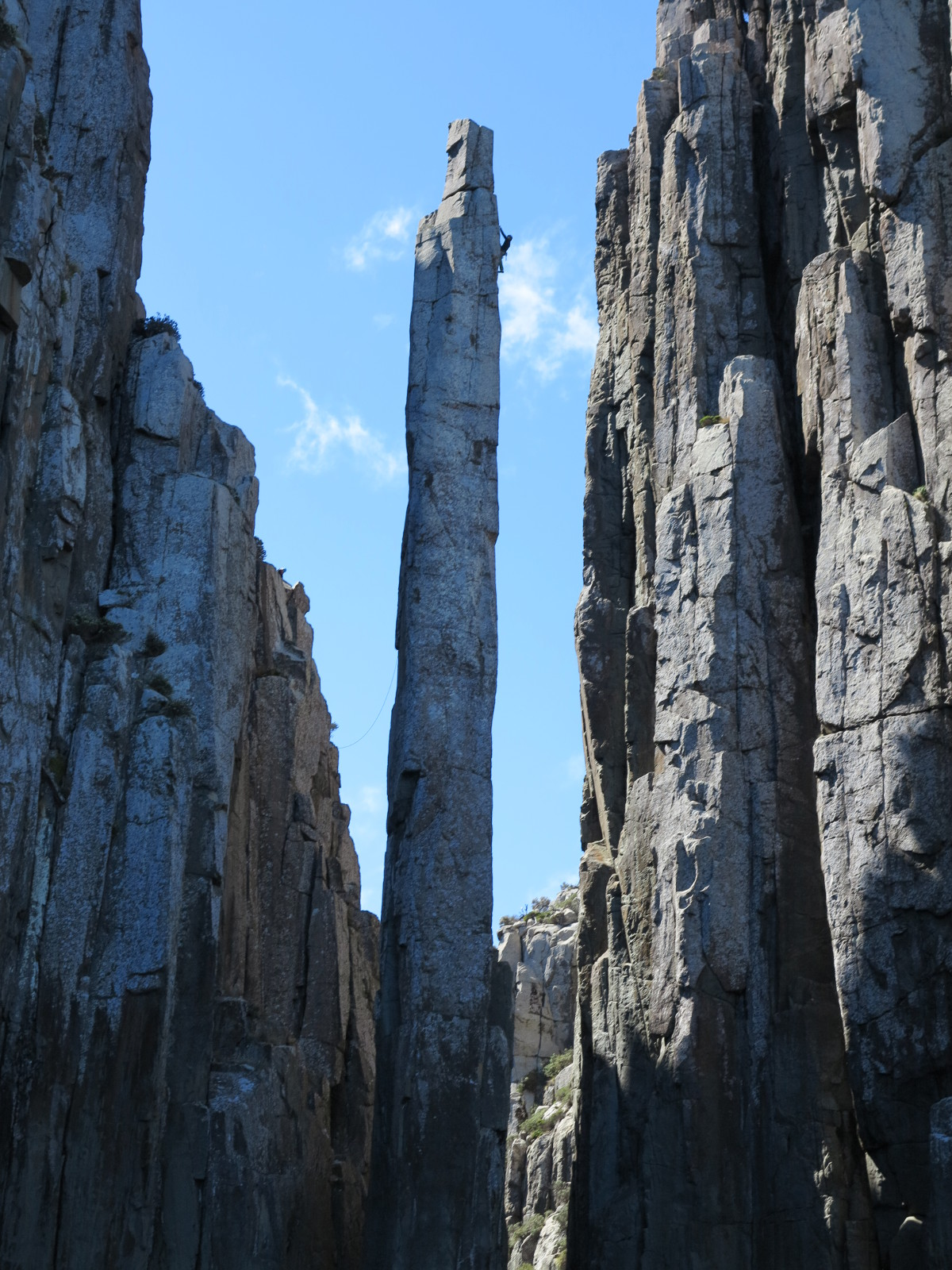 Rock climber Totem Pole Tasmania Double-Barrelled Travel