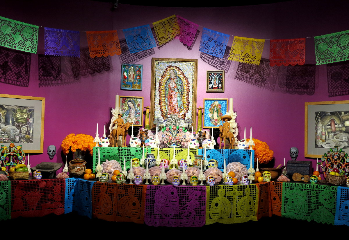 Day of the Dead altar Popular Art Museum Mexico City Double-Barrelled Travel
