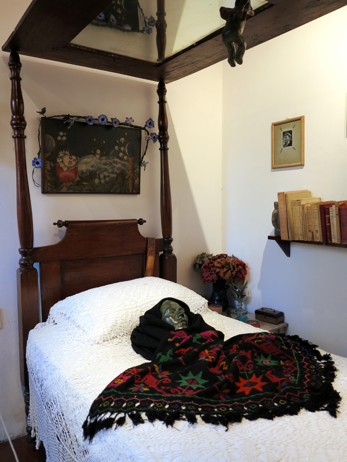 Frida Kahlo bed Mexico City Double-Barrelled Travel