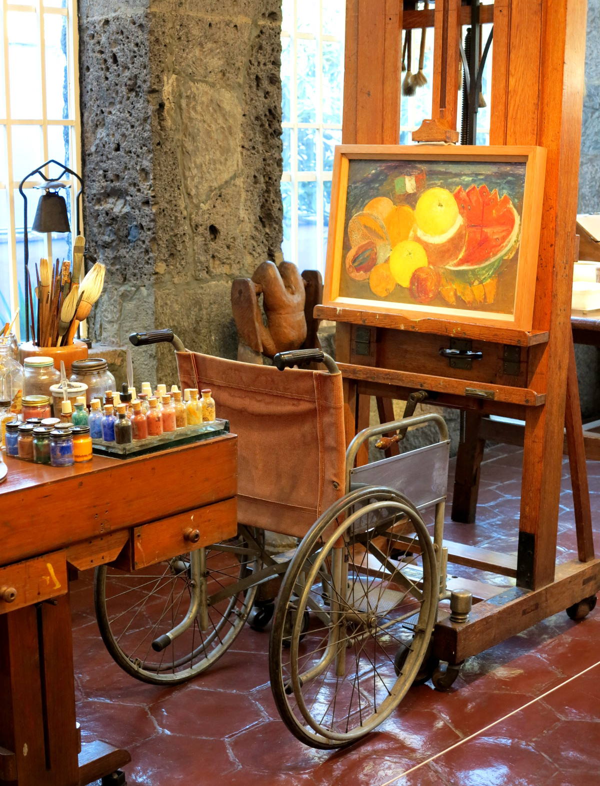 Frida Kahlo studio Mexico City Double-Barrelled Travel