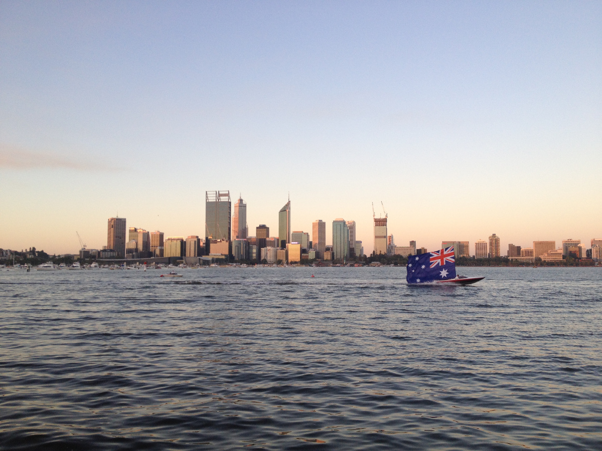 Perth city at sunset Double-Barrelled Travel
