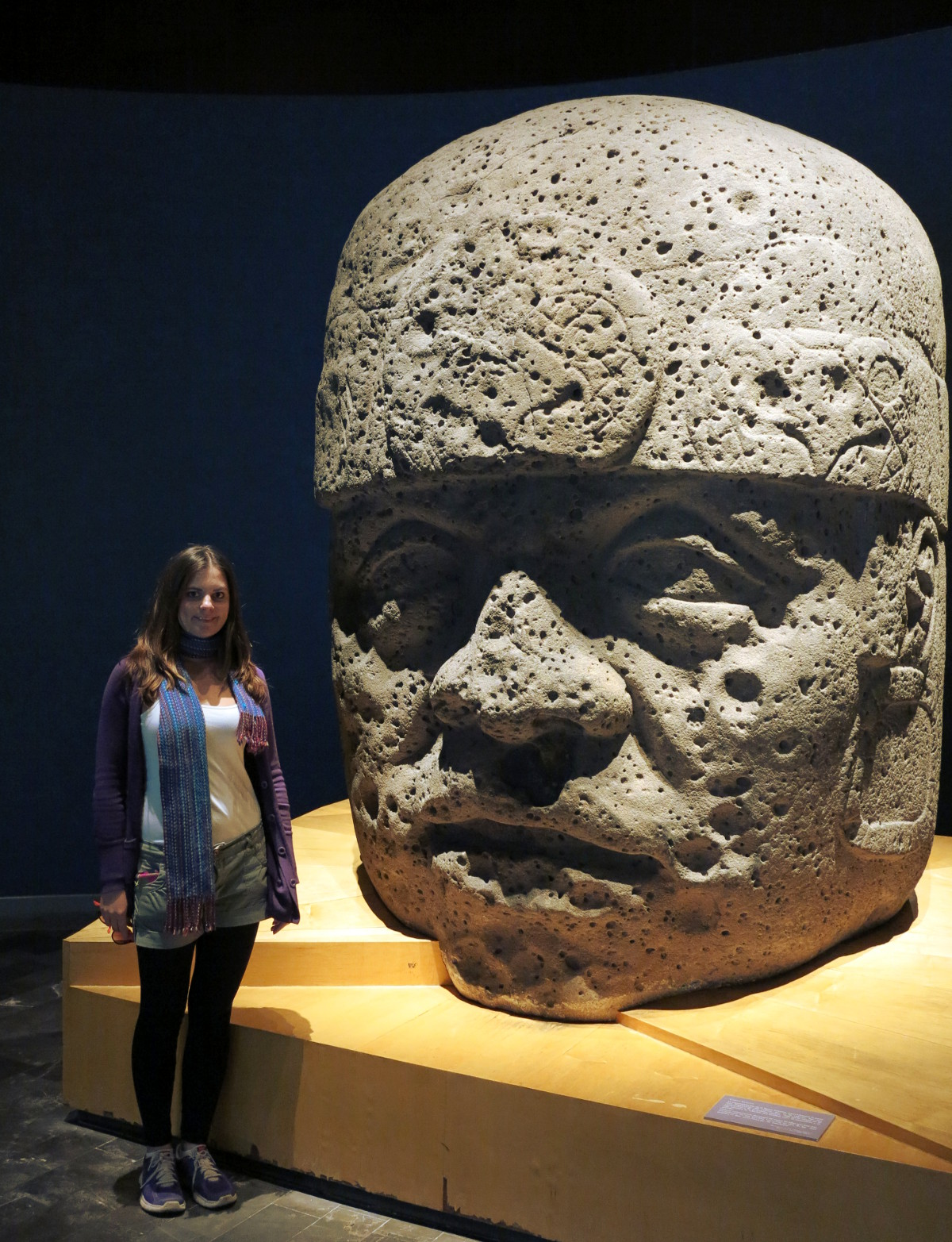 stone head anthropology museum Mexico City Double-Barrelled Travel
