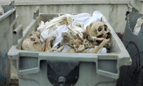 Bones in dumpster cemetery Havana Cuba Double-Barrelled Travel