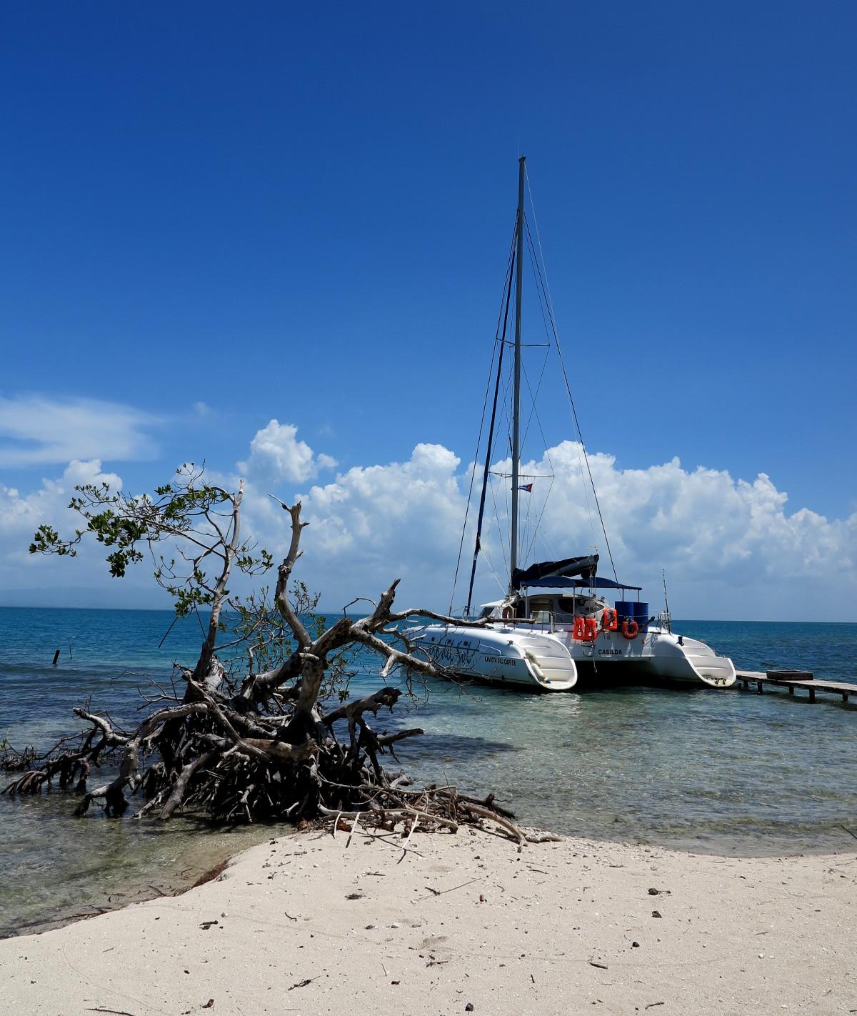 Catamaran Iguana Island Cuba Double-Barrelled Travel
