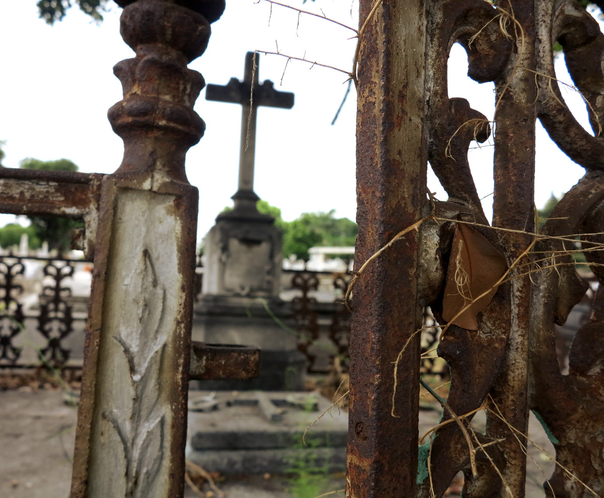 Cross through gate cemetery Havana Cuba Double-Barrelled Travel