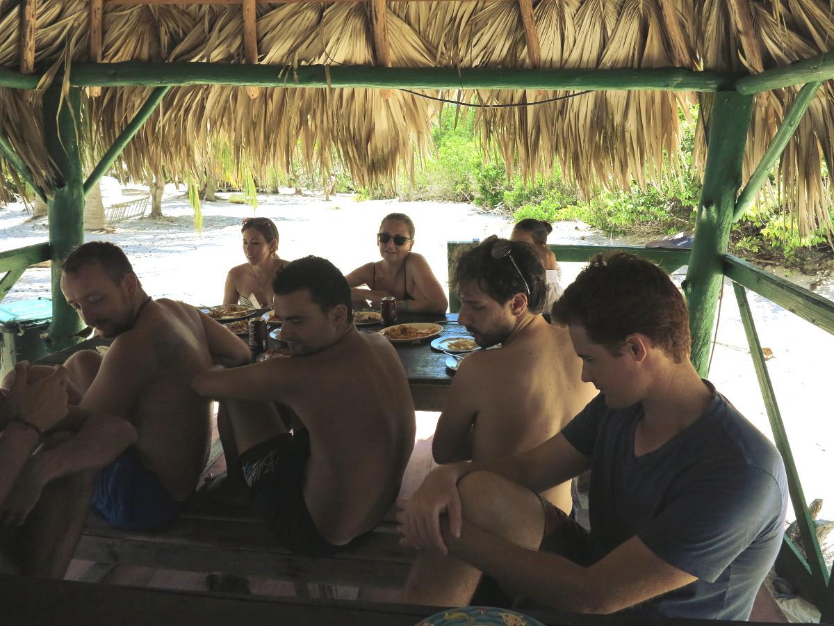Iguanas attack Iguana Island Cuba Double-Barrelled Travel