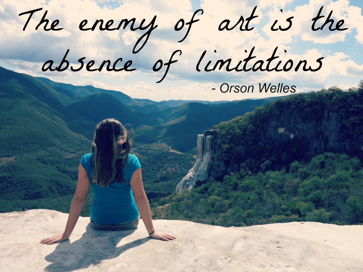 The enemy of art is the absence of limitations Double-Barrelled Travel