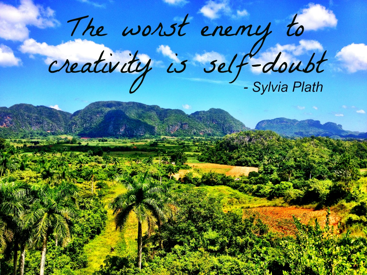 The worst enemy to creativity is self-doubt Double-Barrelled Travel