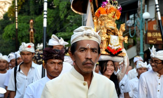 Balinese Hindu procession Ubud Double-Barrelled Travel