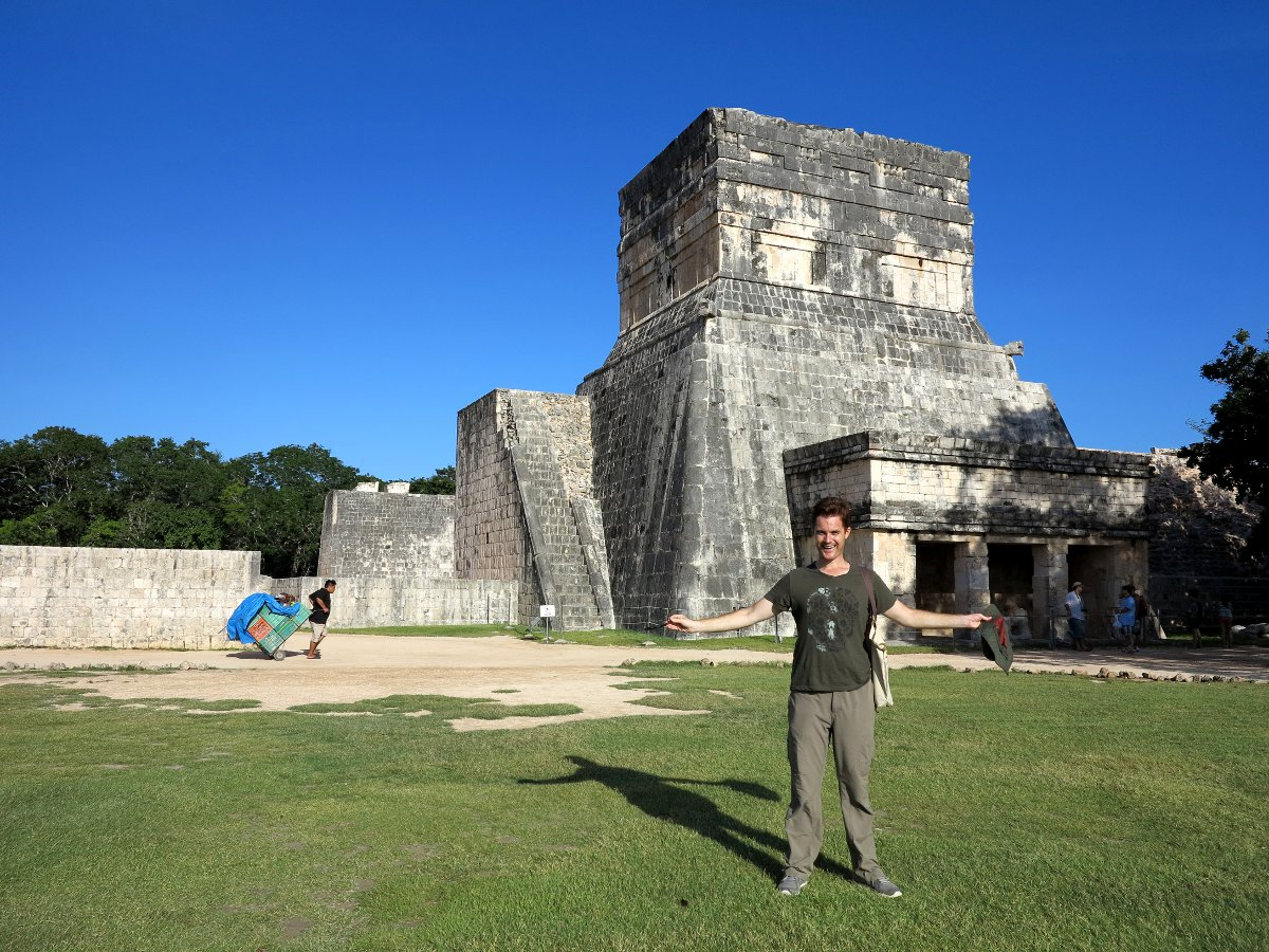 Dave in Chichen Itza Double-Barrelled Travel