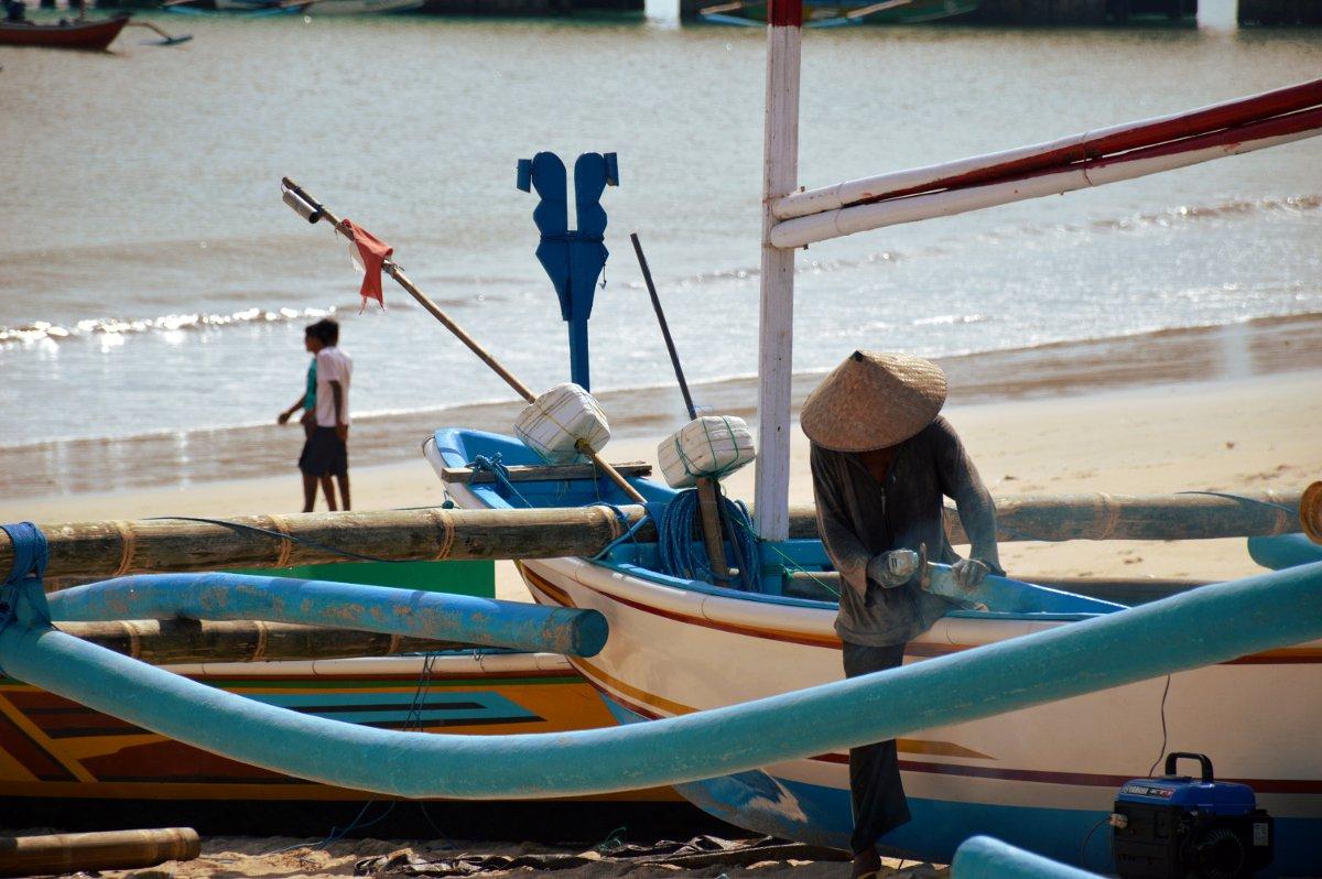 Jimbaran fisherman Bali Double-Barrelled Travel