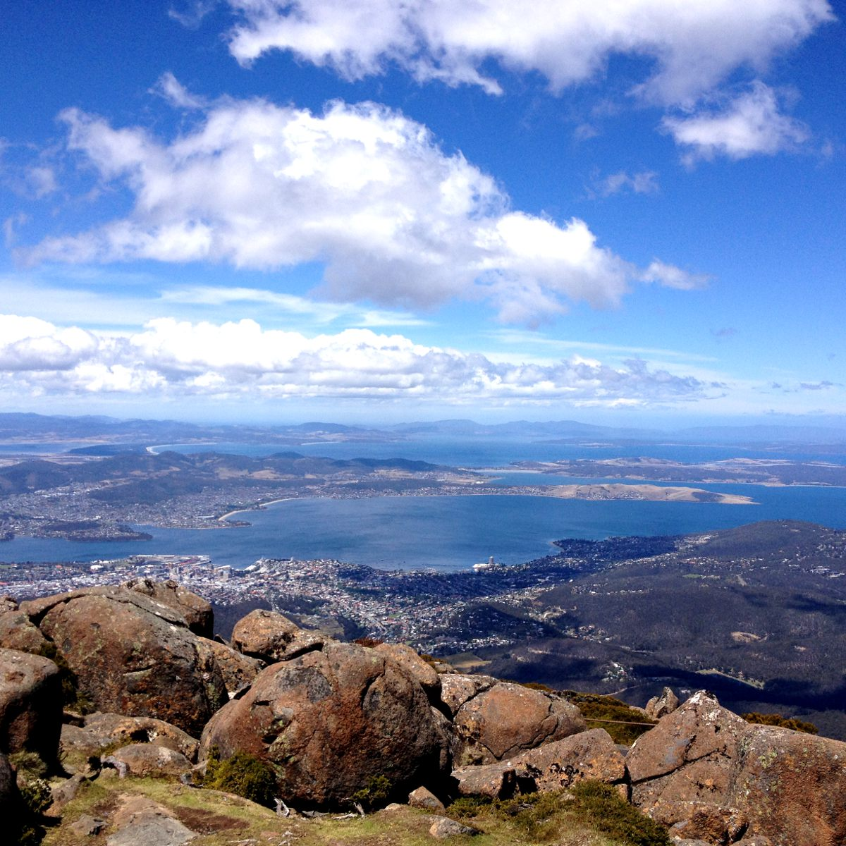 Tasmania Hobart view Double-Barrelled Travel