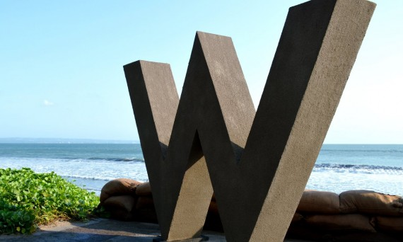 W Retreat sign Bali Double-Barrelled Travel