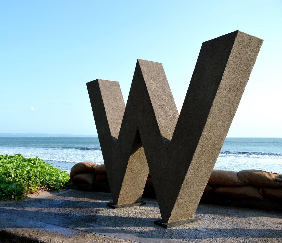 W Retreat sign Bali Double-Barrelled Travel