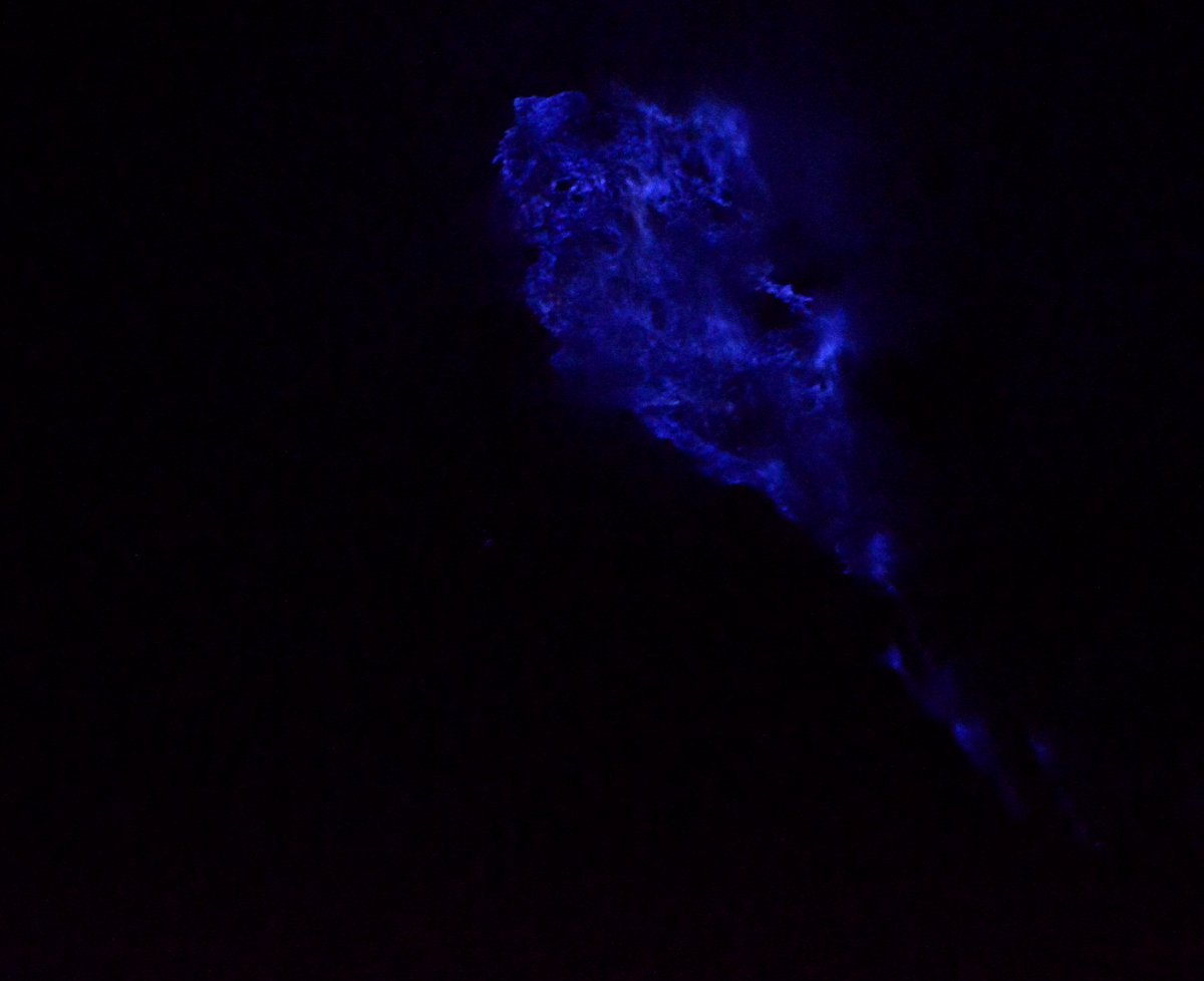 Blue flames Ijen Volcano Java Double-Barrelled Travel