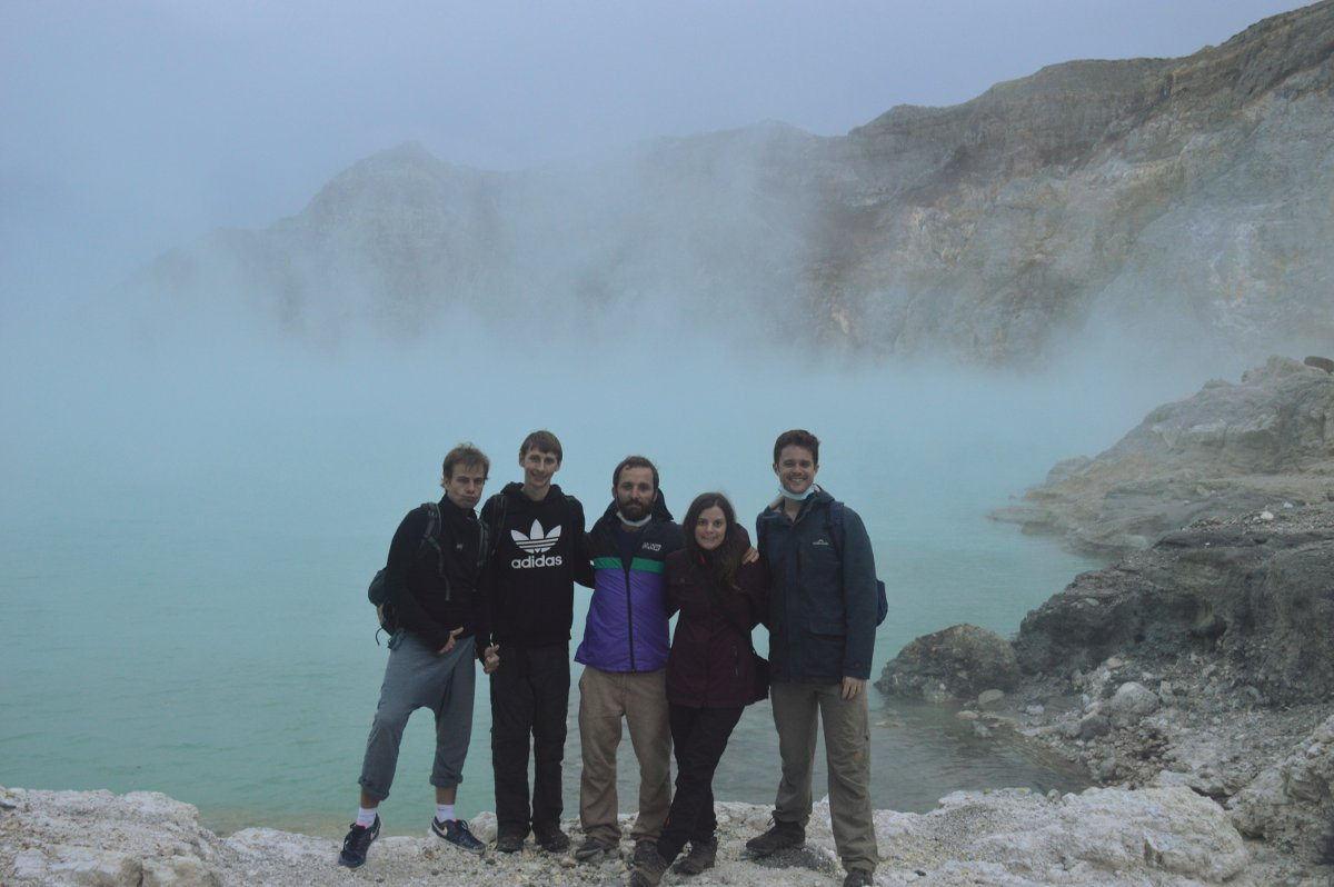 Hiking group Ijen Volcano Java Double-Barrelled Travel