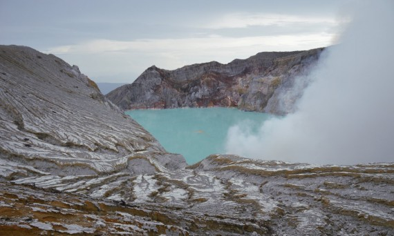 Ijen Volcano crater Java Double-Barrelled Travel