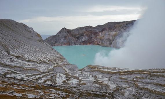 Ijen Volcano crater Java Double-Barrelled Travel