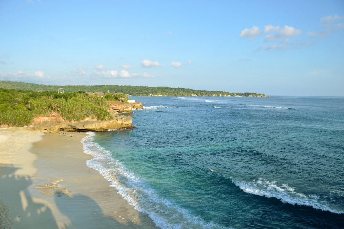 A beautiful beach on Nusa Lembongan, where we spent some time this month