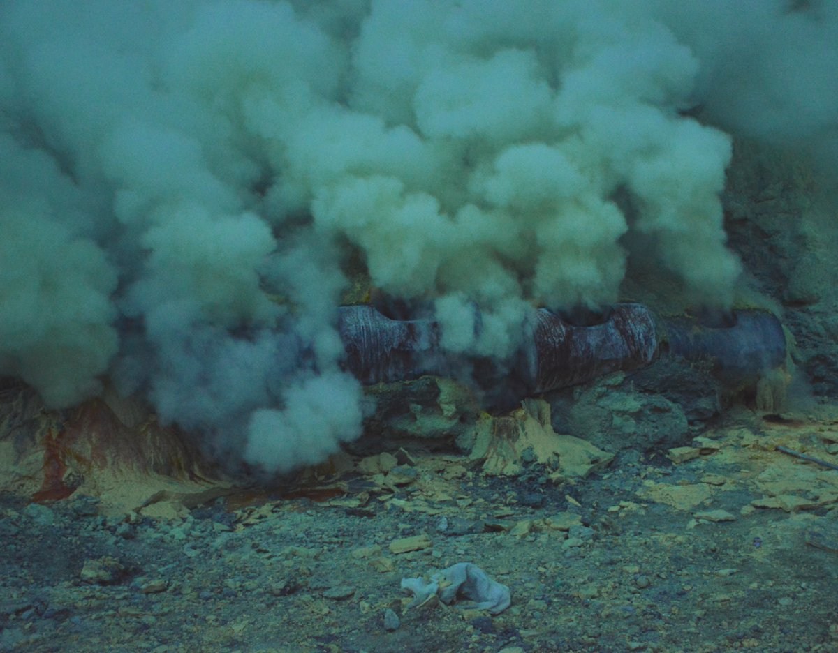 Sulphur Ijen Volcano Java Double-Barrelled Travel