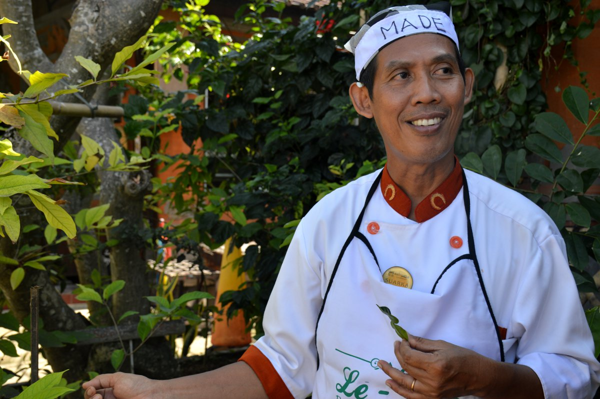 Chef Made Le Zat cooking class Bali Double-Barrelled Travel