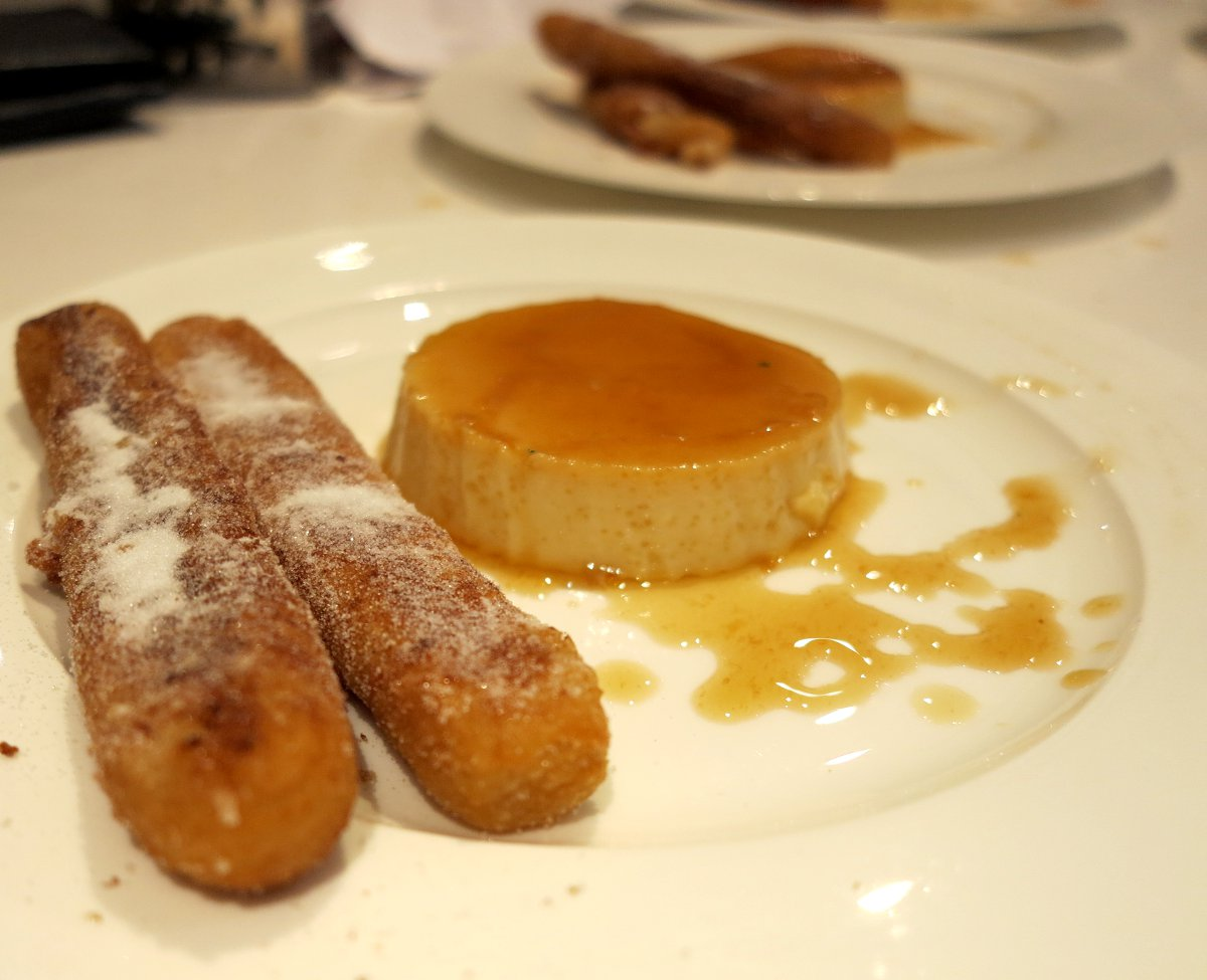 Churros and Mexican flan Double-Barrelled Travel
