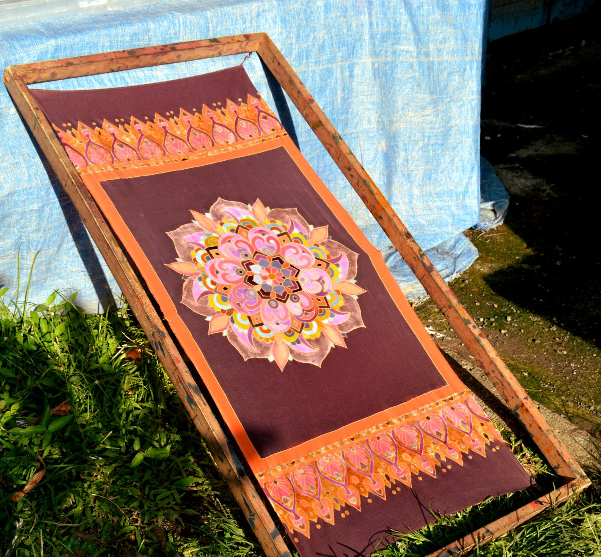 Drying Batik painting Ubud Double-Barrelled Travel