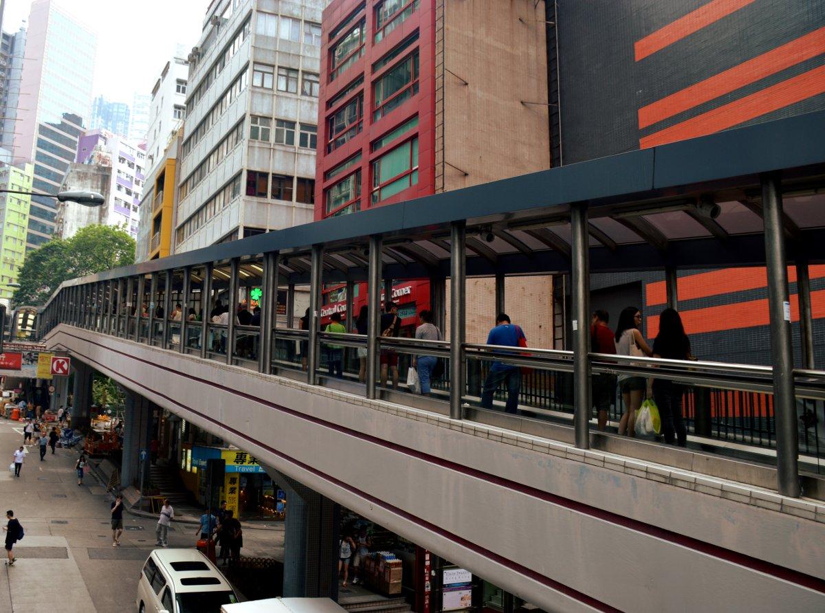 Escalator Hong Kong Double-Barrelled Travel