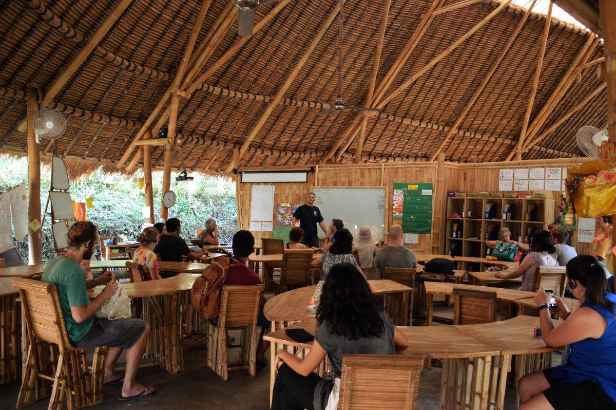 Green school classroom Bali Double-Barrelled Travel