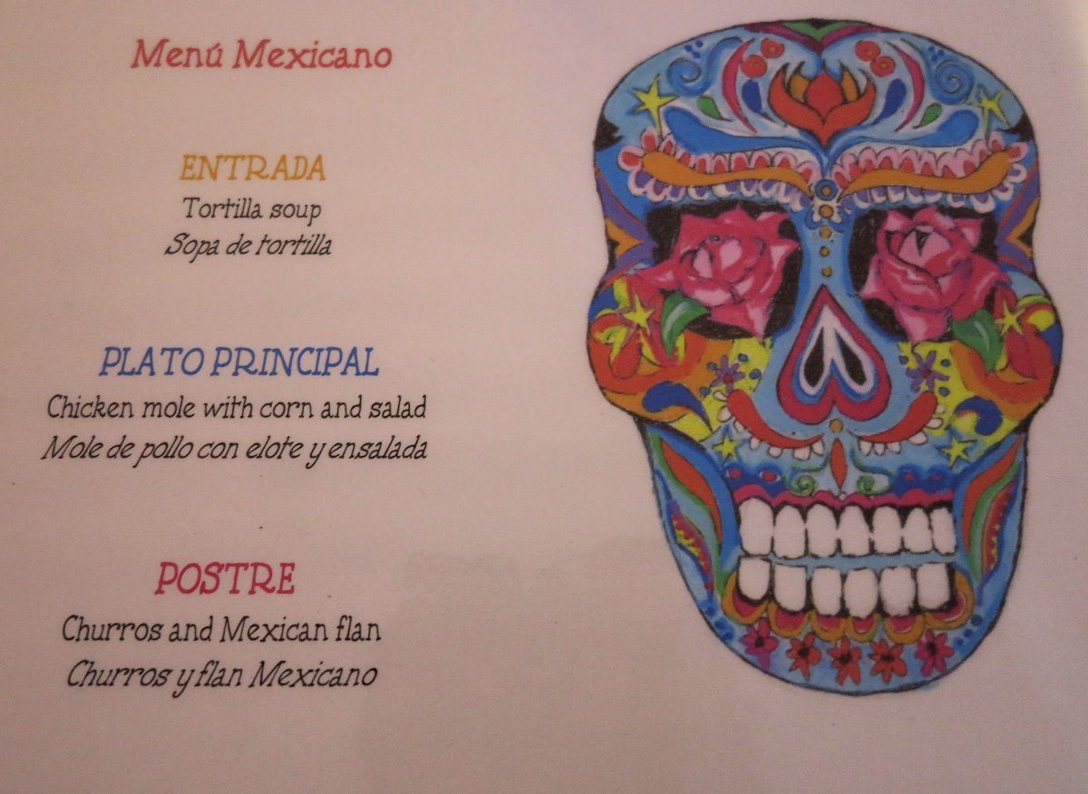 Mexican menu Double-Barrelled Travel