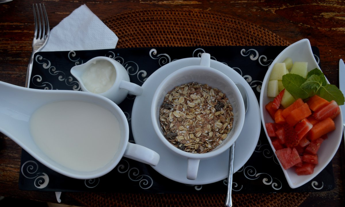 Nirwana Resort and Spa Candidasa healthy breakfast Double-Barrelled Travel
