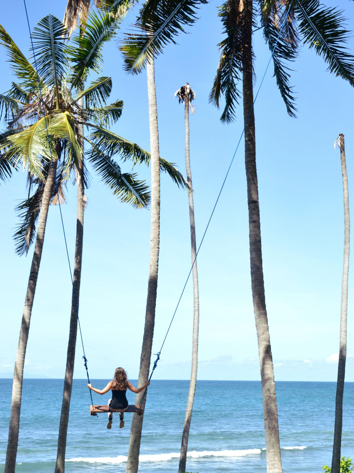 Palm tree swing East Bali Double-Barrelled Travel