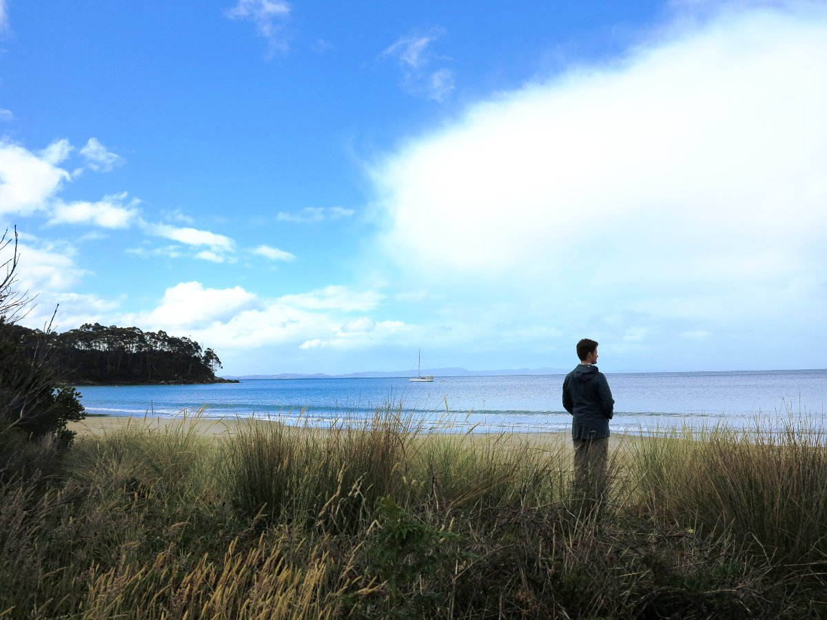 Tasmania beach Double-Barrelled Travel
