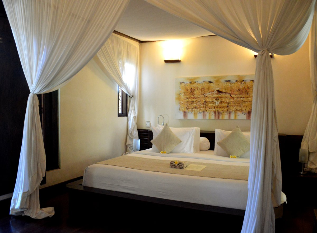 Villa Kubu Seminyak Bali bedroom Double-Barrelled Travel