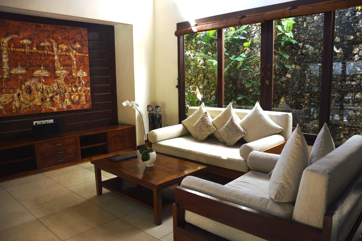 Villa Kubu Seminyak Bali loungeroom Double-Barrelled Travel