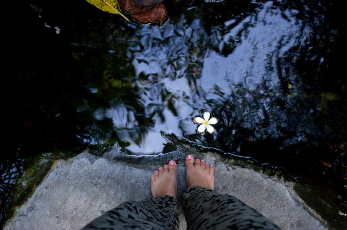 Villa Kubu Seminyak Bali pond Double-Barrelled Travel