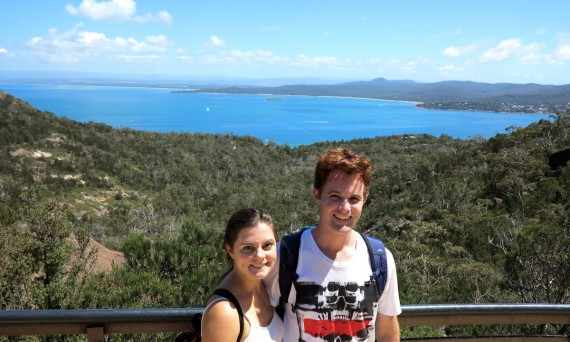 Wineglass Bay hike Carmen and Dave Double-Barrelled Travel