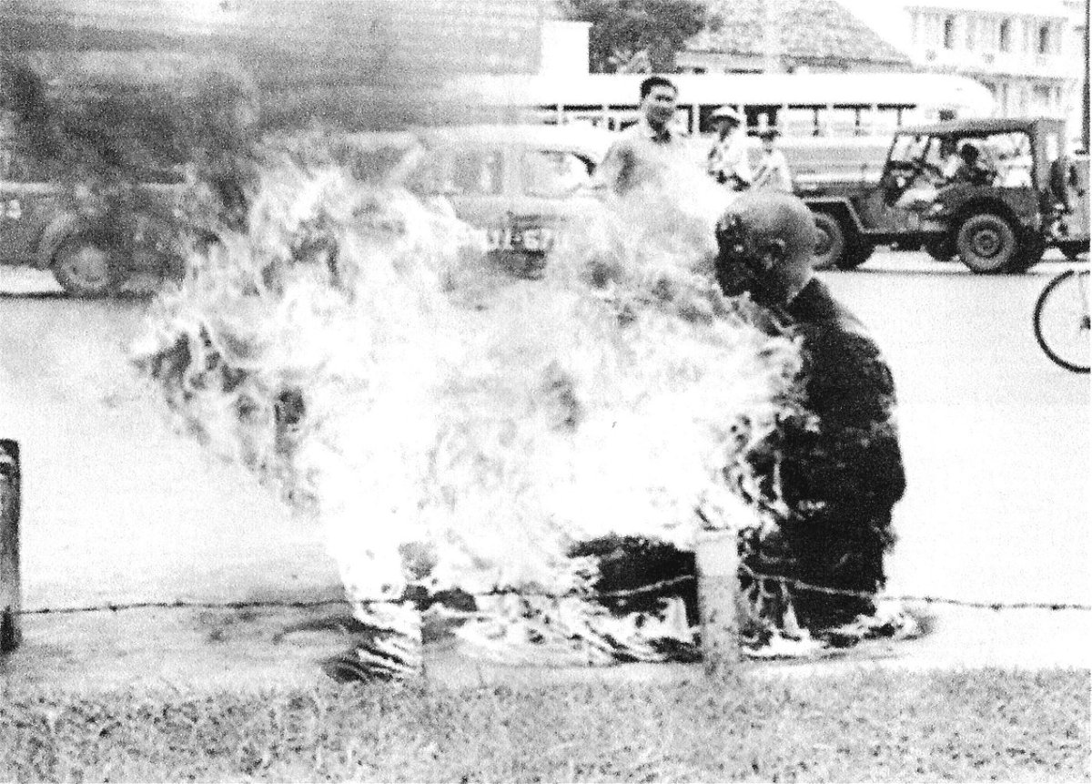 Buddist monk burning Saigon Double-Barrelled Travel