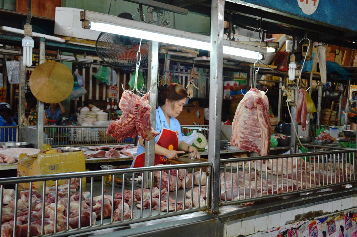 Butcher Market Saigon Street Eats Vietnam Double-Barrelled Travel